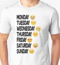 EMOJI DAYS OF THE WEEK Unisex T-Shirt
