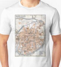 Vintage Map of Bruges (1905)  Unisex T-Shirt