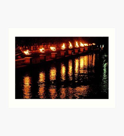 Reflections of Fire Art Print