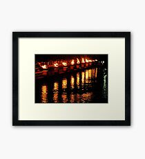 Reflections of Fire Framed Print