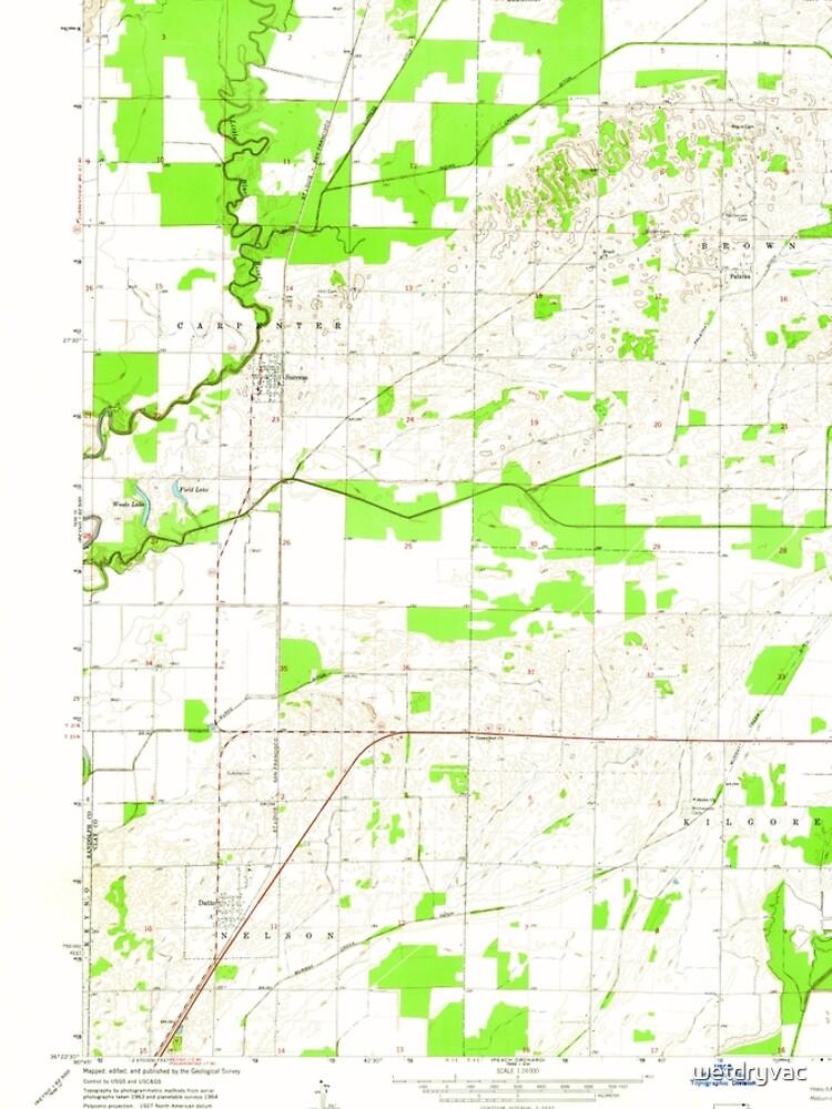 USGS TOPO Map Arkansas AR Datto 258301 1964 24000 von wetdryvac