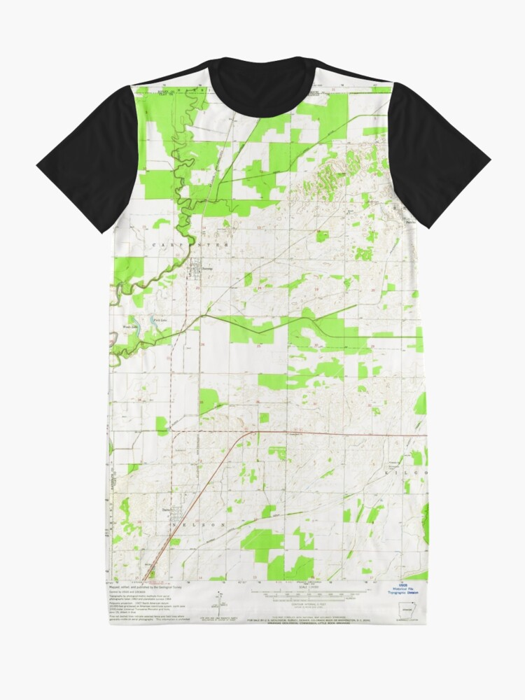 Alternative Ansicht von USGS TOPO Map Arkansas AR Datto 258301 1964 24000 T-Shirt Kleid