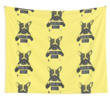 Rebel dog (yellow) Wall Tapestry