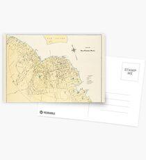 Vintage Map of Bar Harbor Maine (1897) Postcards