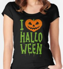Love Halloween Women's Fitted Scoop T-Shirt