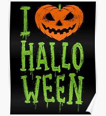 Love Halloween Poster