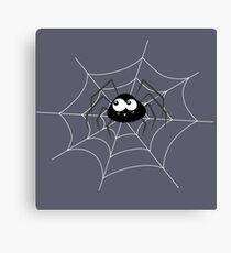 Kleine Spinne mit Netz Canvas Print