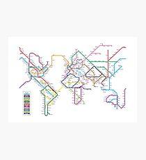 World Tube Metro Map Photographic Print