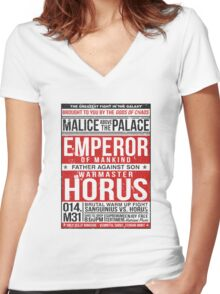 Malice Above The Palace Women's Fitted V-Neck T-Shirt