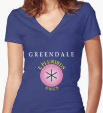 E Pluribus Anus Women's Fitted V-Neck T-Shirt