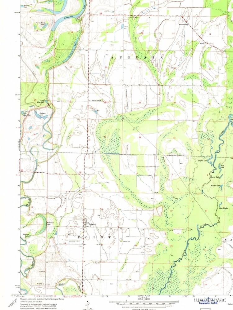 USGS TOPO Map Arkansas AR Gregory 258626 1968 24000 von wetdryvac