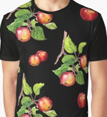red apples on black Graphic T-Shirt