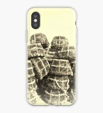 Lobster Pots in the harbour iPhone Case