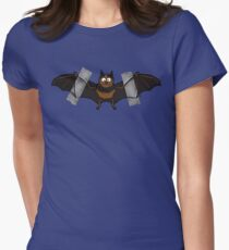 Do-It-Yourself Bat Logo Women's Fitted T-Shirt
