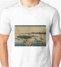 Buyo tsukuda-jima - Hokusai Katsushika - 1890 Unisex T-Shirt