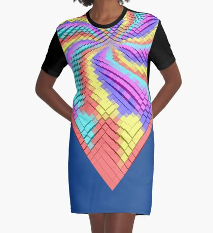 Cube Hero #Fractal Graphic T-Shirt Dress