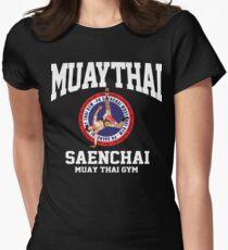 CARTWHEEL KICK PK SAENCHAI MUAY THAI BOXING GYM LUMPINEE CHAMPION  Womens Fitted T-Shirt