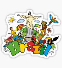 Pegatina Funny cartoon brazil picture