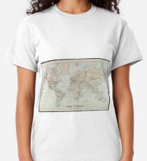 Vintage Map of The World (1875)  Classic T-Shirt