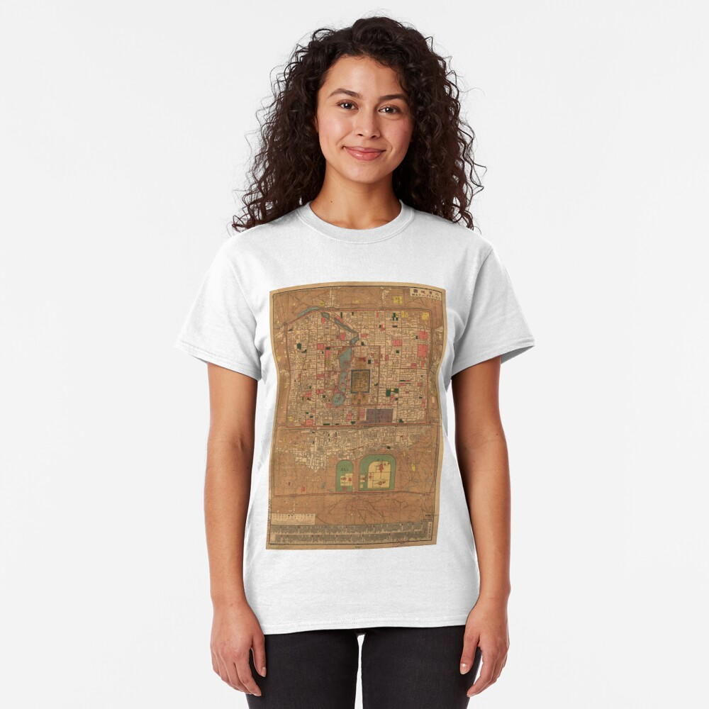 Vintage Map of Beijing China (1914) Classic T-Shirt