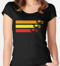 TRON LIGHT CYCLE RACING (V2) Women's Fitted Scoop T-Shirt