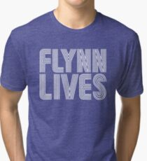 FLYNN LIVES - TRON MOVIE Tri-blend T-Shirt