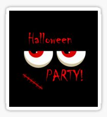 Halloween party - monsters red eyes Sticker