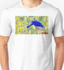 Blue Bird and insect. T-Shirt