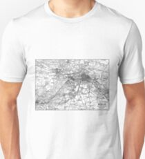 Berlin and Surrounding Areas Map (1911)  T-Shirt