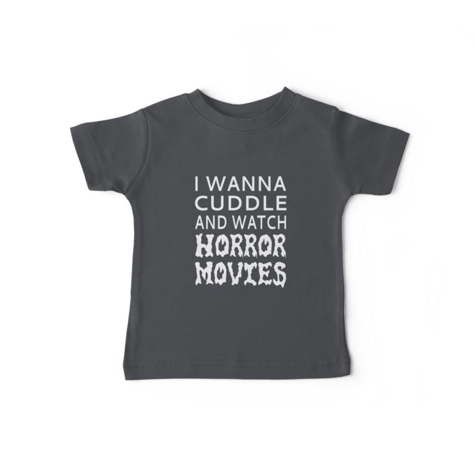 Ich möchte kuscheln und Horrorfilme anschauen von coolfuntees