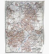 Old Berlin Map Posters Redbubble - Berlin map 1914