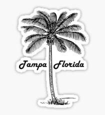 Black and White Tampa Florida & Palm design Sticker