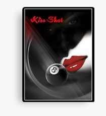 Kiss Shot Canvas Print