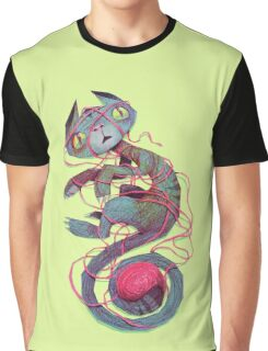 cat + thread Graphic T-Shirt