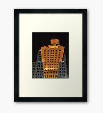 Skyscraper at night Framed Print