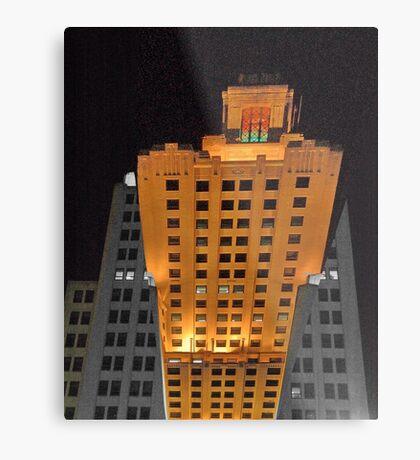 Skyscraper at night Metal Print