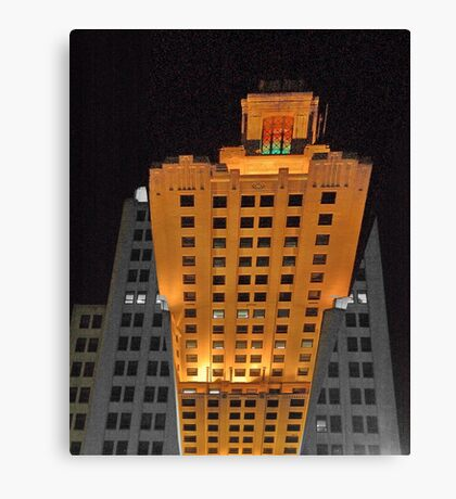Skyscraper at night Canvas Print