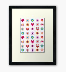 Colorful Flowers Pattern Framed Print