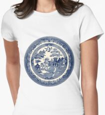 China Blue Willow Women's Fitted T-Shirt