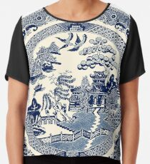 China Blaue Weide Chiffontop