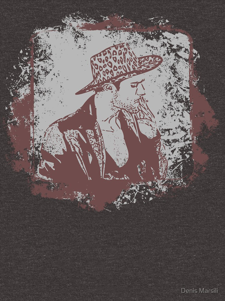Cowboy Smoking Hat :D Cool Grunge Vintage T-Shirt by ddtk