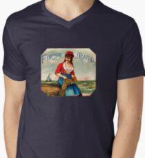19th C. First Mate Cigars Men's V-Neck T-Shirt