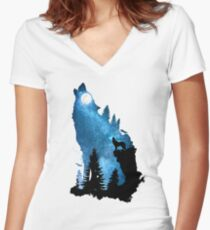 The Howling Wind Women's Fitted V-Neck T-Shirt