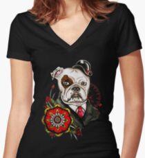 dog Women's Fitted V-Neck T-Shirt