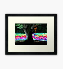 Moving Rainbow HDR Framed Print