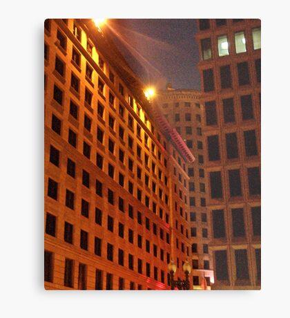 Downtown at night Metal Print