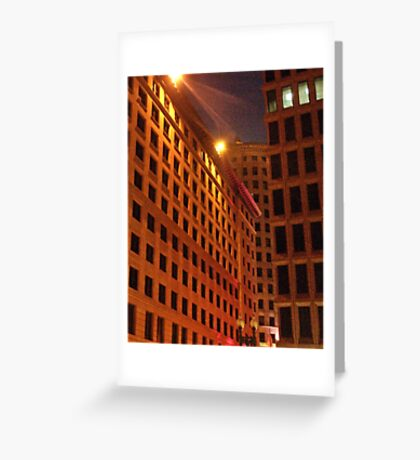 Downtown at night Greeting Card