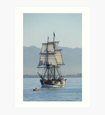 A Row with Lady Washington Art Print