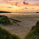 Crantock Sunset in the Dunes by John Dunbar