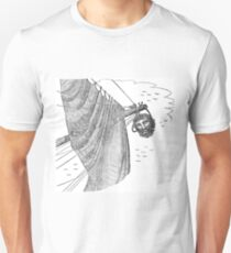 Blackbeard's Head Being hung from the Bow Unisex T-Shirt